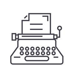 typewriterwriterwritingcopywriting line vector image