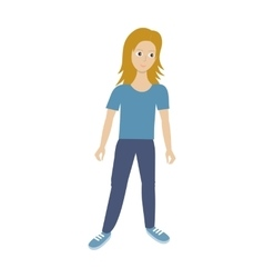 Woman character in flat style vector