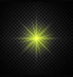 Yellow glowing light glitter vector