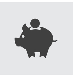Pig money box icon vector
