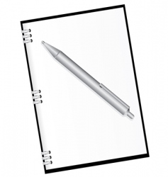 diary and pen vector image