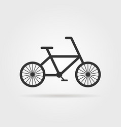 Black simple bicycle emblem with shadow vector