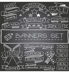 Set of banner design elements vector image
