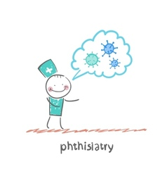 phthisiatry vector image