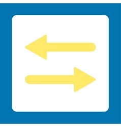 Arrows exchange horizontal flat yellow and white vector