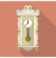 Retro vintage wall clock icon vector
