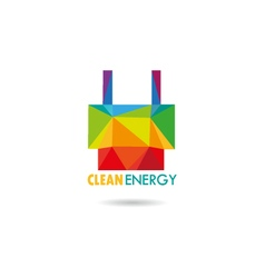 Clean energy icon vector