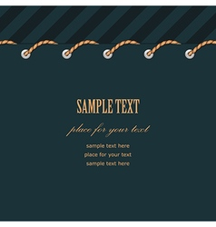 Frame rope stitch vector