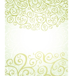 Background with green ornaments vector
