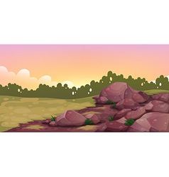 An image of rocks vector image vector image