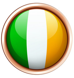 Badge design for flag of ireland vector