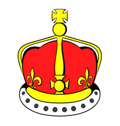British crown icon cartoon vector