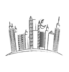 City urban buildings vector