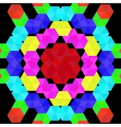 Colorful geometric pattern of hexagons vector
