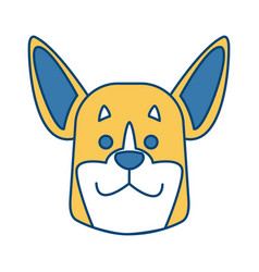 dog head cartoon vector image