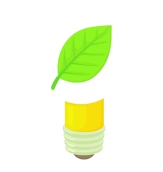 Eco lamp icon cartoon style vector