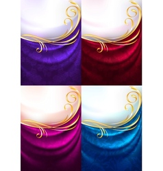Fabric ornamental background vector