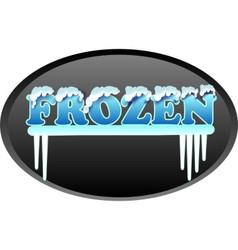 Frozen logo vector