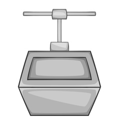 Funicular icon gray monochrome style vector