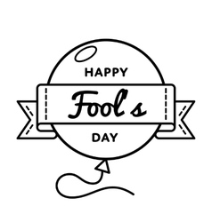 Happy Fools day greeting emblem vector image