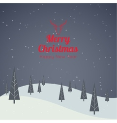 Happy new year Merry Christmas vector image