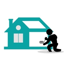 House construction electrcial technician tool vector