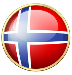 Icon design for norway flag vector