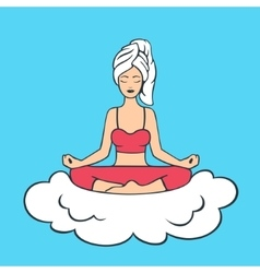 Lotus Pose Yoga Girl vector image