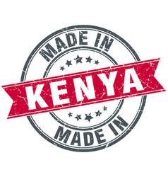 Made in kenya red round vintage stamp vector