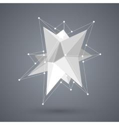 modern geometric shape polygon background vector image