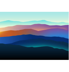Mountains landscape in beautiful colors vector