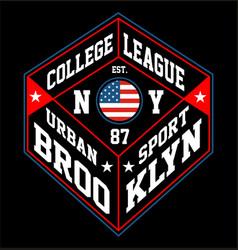 ny brooklyn urban sport vector image