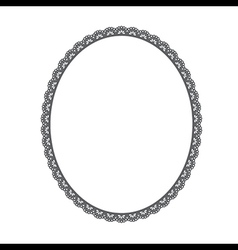 oval frame on white background vector image