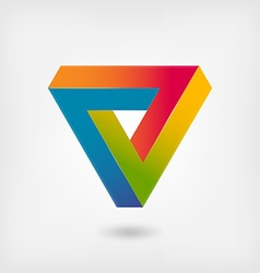 Penrose triangle multicolor abstract symbol vector image vector image