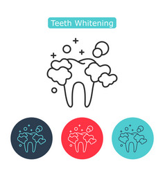 professional teeth whitening image healthy tooth vector image vector image