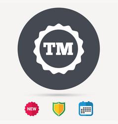 Registered tm trademark icon intellectual work vector