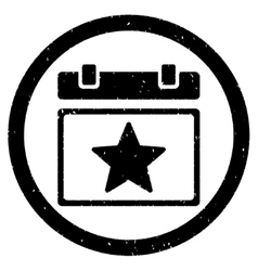 Star favourites day rounded grainy icon vector