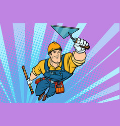 superhero builder professional flying vector image