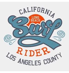 Surf rider California vector image vector image