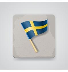 Sweden flag icon vector image