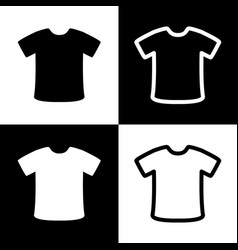 T-shirt sign black and white icons and vector