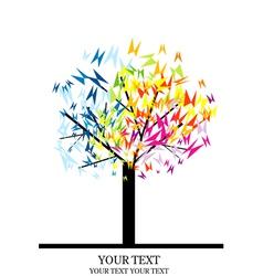 tree with butterflies vector image vector image