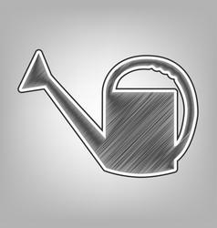 Watering sign pencil sketch imitation vector