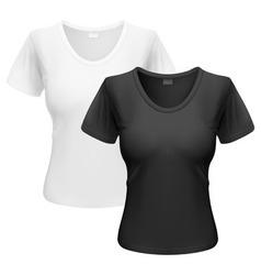 Woman t-shirt vector image vector image