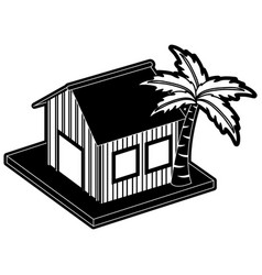 wooden house real estate vector image