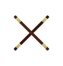 Wooden sword bokken flat icon vector image