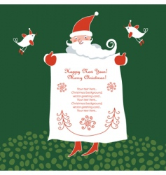 Santa place for your text vector image