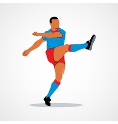 ball soccer player vector image