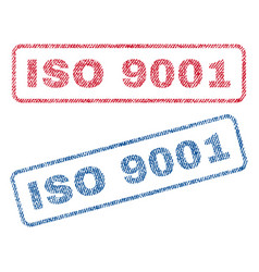 iso 9001 textile stamps vector image