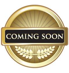 Coming Soon Gold Award vector image